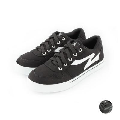 ARRIBA艾樂跑男鞋-基本款帆布鞋-黑白/全黑(FA474)