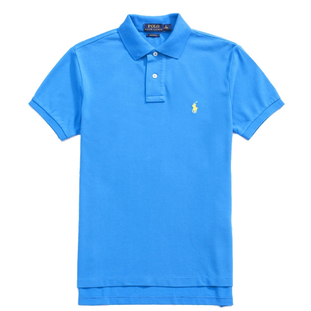 Polo Rlaph Lauren 經典電繡小馬Polo衫(Custom)-水藍色