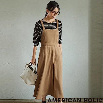 AMERICAN HOLIC MORE9月號掲載款-簡約高腰吊帶連身裙