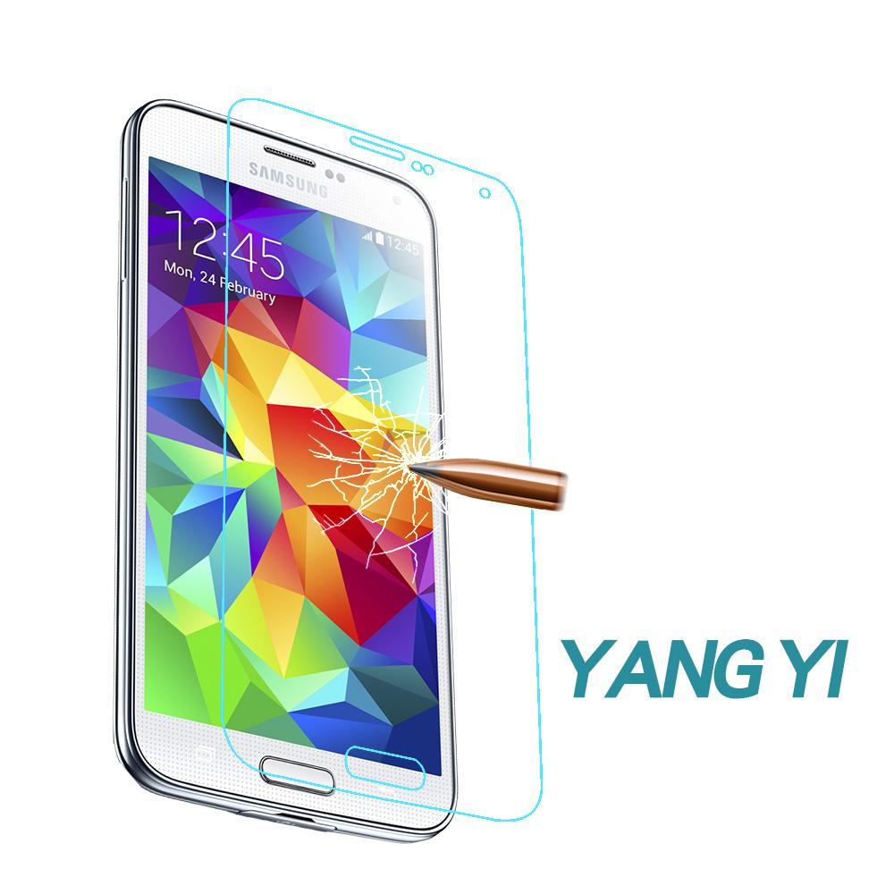 揚邑Samsung Galaxy S5 防爆防刮防眩弧邊 9H鋼化玻璃保護貼膜