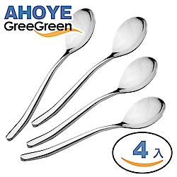 GREEGREEN 304不鏽鋼湯匙 4入組 飯匙 餐具