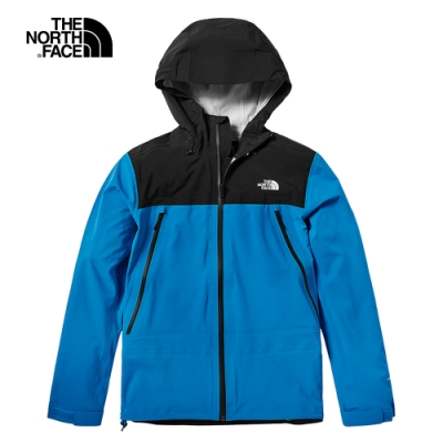 The North Face北面男款藍色防水透氣衝鋒衣 46LAME9