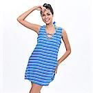 Avalanche巴西泳裝-比佛利-條紋罩衫(藍)