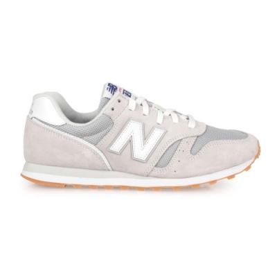 NEWBALANCE 男復古慢跑鞋-麂皮 373系列 NB N字鞋 標準楦 ML373DC2 淺灰白銀