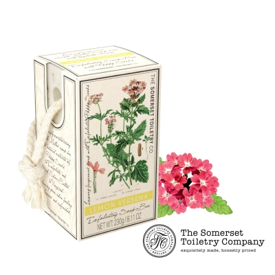 Somerset 賽玫特 英國罌粟籽去角質植物皂-檸檬馬鞭草230g (掛繩)
