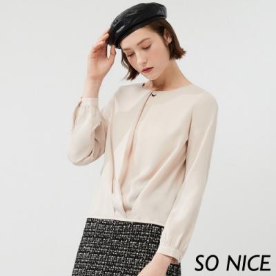 SO NICE都會簡約造型雪紡上衣