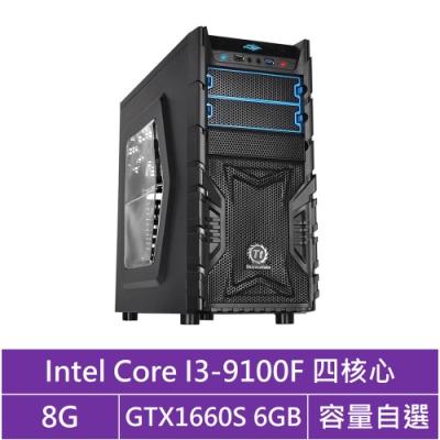 技嘉B365平台[冰刃狼神]i3四核GTX1660S獨顯電腦