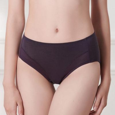 黛安芬-自在系列高腰三角內褲 M-EEL 野莓紫