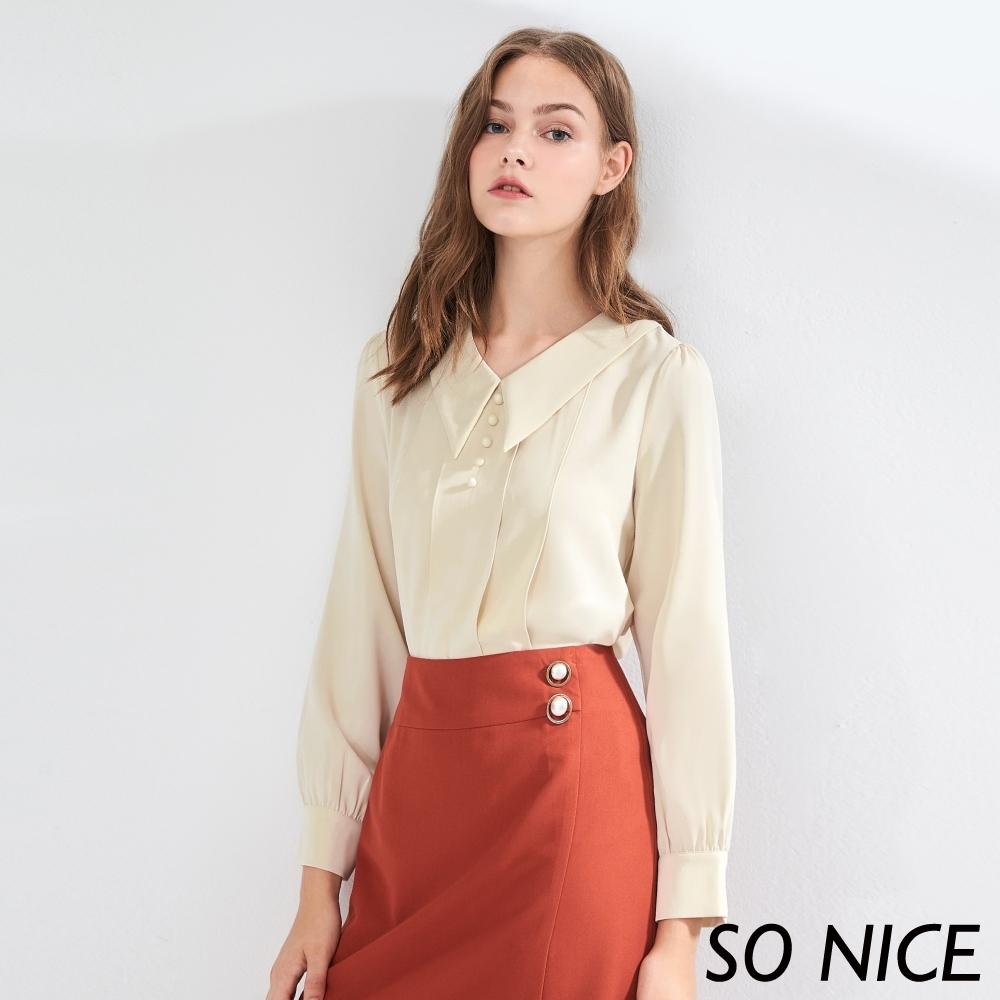 SO NICE優雅簡約造型領上衣