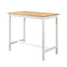 Bernice-夏菲3.6尺白色實木吧台桌/洽談桌/休閒桌-108x60x91cm