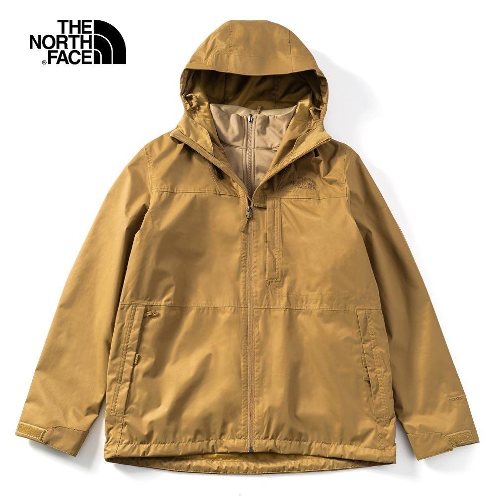 The North Face 男 三合一防水透氣保暖外套 卡其 NF0A4NCLP38