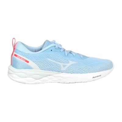 MIZUNO WAVE REVOLT 女慢跑鞋-路跑 運動 訓練 美津濃 J1GD208125 粉藍灰亮紅