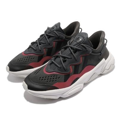 adidas 休閒鞋 Ozweego W 運動 女鞋 海外限定 愛迪達 舒適 避震 反光 穿搭 灰 紅 EF4293