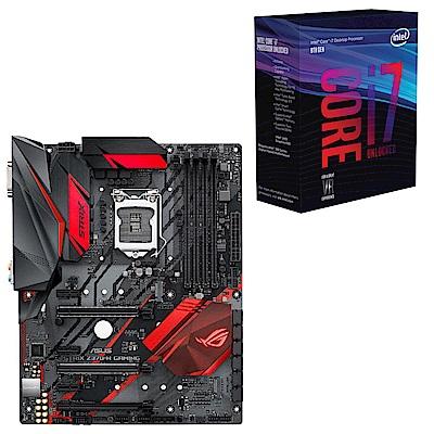 雅虎價Intel i7-8700K華碩ROG STRIX Z370-H主機板