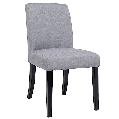 【AT HOME】現代簡約胡桃灰色布實木椅腳餐椅/休閒椅(49*63*87cm)佩兒