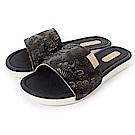 Grendha 典雅歐風印象休閒拖鞋-黑色