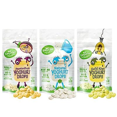 【紐西蘭Kiwigarden】益菌優格豆20g 綜合三包組(原味+百香果+奇異果 各1包)