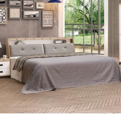 Bernice-喬科5尺雙人床組(床頭箱+床底)(不含床墊)