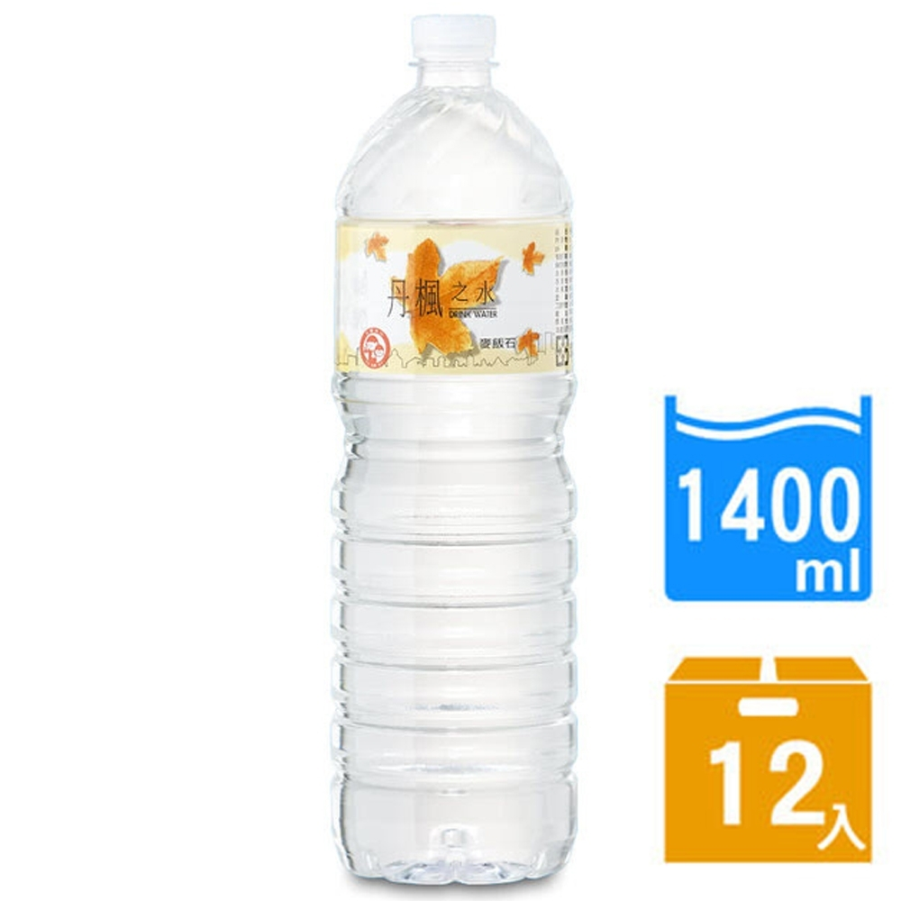 DRINK WATER丹楓之水 麥飯石礦泉水1400ml(12瓶/箱)