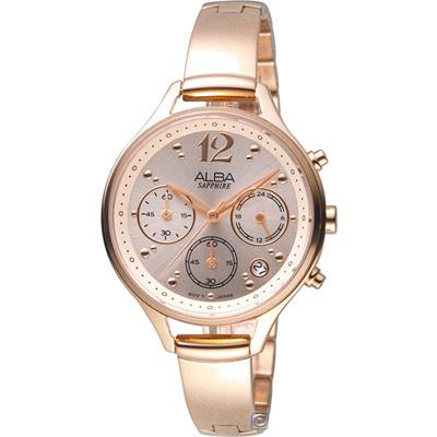 ALBA 雅柏 俏皮時尚手環式腕錶(AT3F18X1)39mm