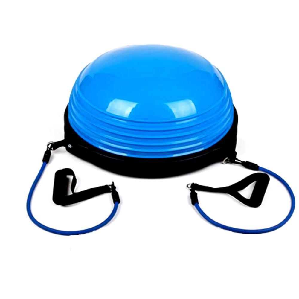 金德恩 台灣製造 瑜珈韻律平衡肌耐力半圓球/附配件拉力繩
