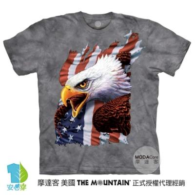 摩達客-美國進口The Mountain 愛國尖叫鷹 純棉環保藝術中性短袖T恤