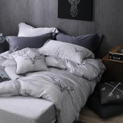 OLIVIA 路克 灰 特大雙人床包兩用被套四件組 230織天絲TM萊賽爾 台灣製