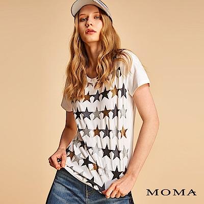 MOMA 亮蔥星星膠印T恤