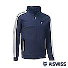 K-Swiss Traning Zip Up運動外套-男-藍