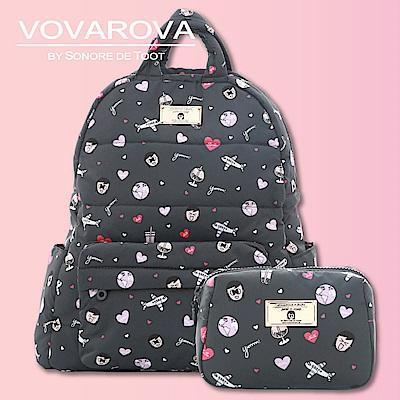 VOVAROVA x 莎莎-奔跑吧!後背包+一日化妝包-環遊世界系列