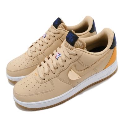 Nike 休閒鞋 Air Force 1 07 運動 男女鞋 經典AF1 皮革 簡約 情侶款 NBA 黃 卡其 CT2298200