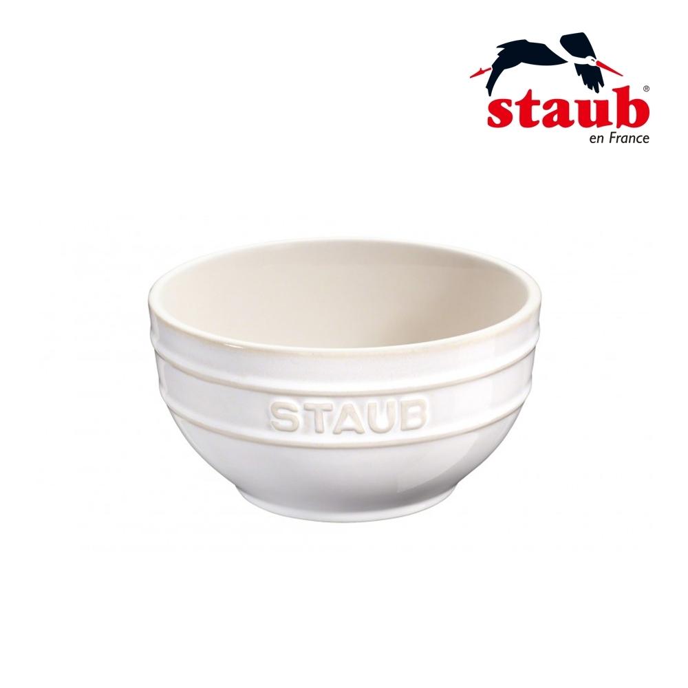 法國Staub 圓型陶瓷碗 12cm 象牙白