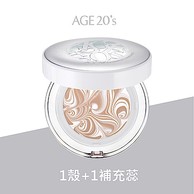 AGE20 s 女神光鑽爆水粉餅1空殼+1粉蕊(SPF50+PA+++)