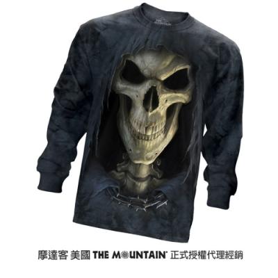 摩達客 美國進口The Mountain 大死神臉 純棉長袖T恤