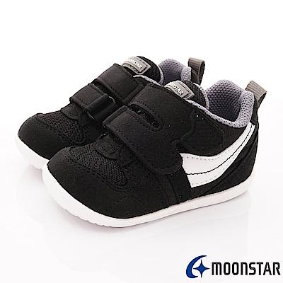 日本月星頂級童鞋 HI系列2E抗菌款 77S6黑(寶寶段)