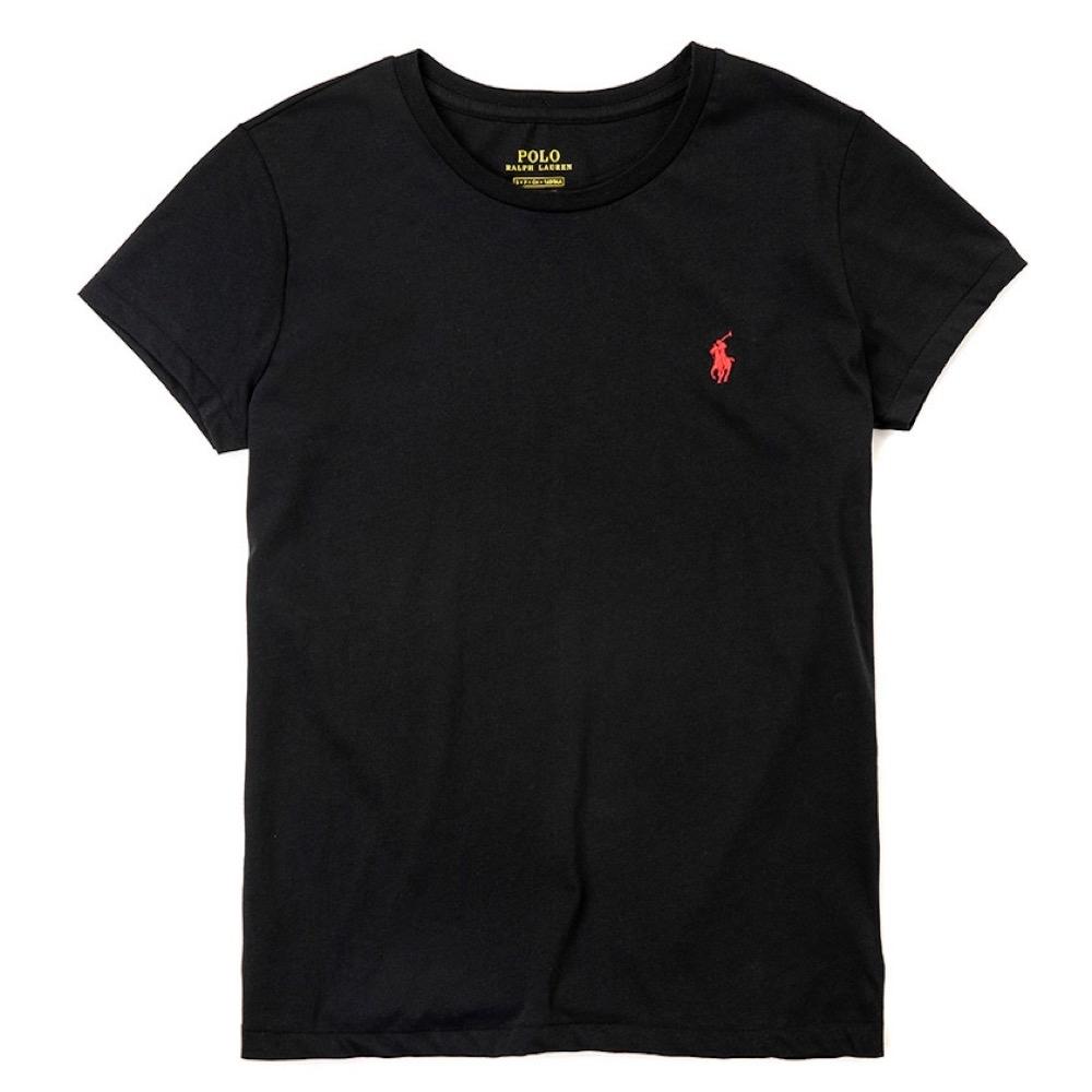 Polo Ralph Lauren 熱銷小馬圓領素面短袖T恤(女)-深藍色