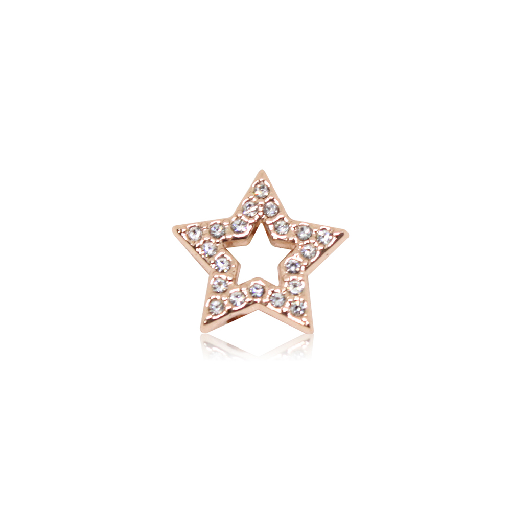HOURRAE 閃耀光芒 鏤空鑽星 人氣玫瑰金系列 小飾品