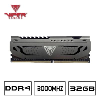 VIPER美商博帝 STEEL DDR4 3000 32GB桌上型記憶體