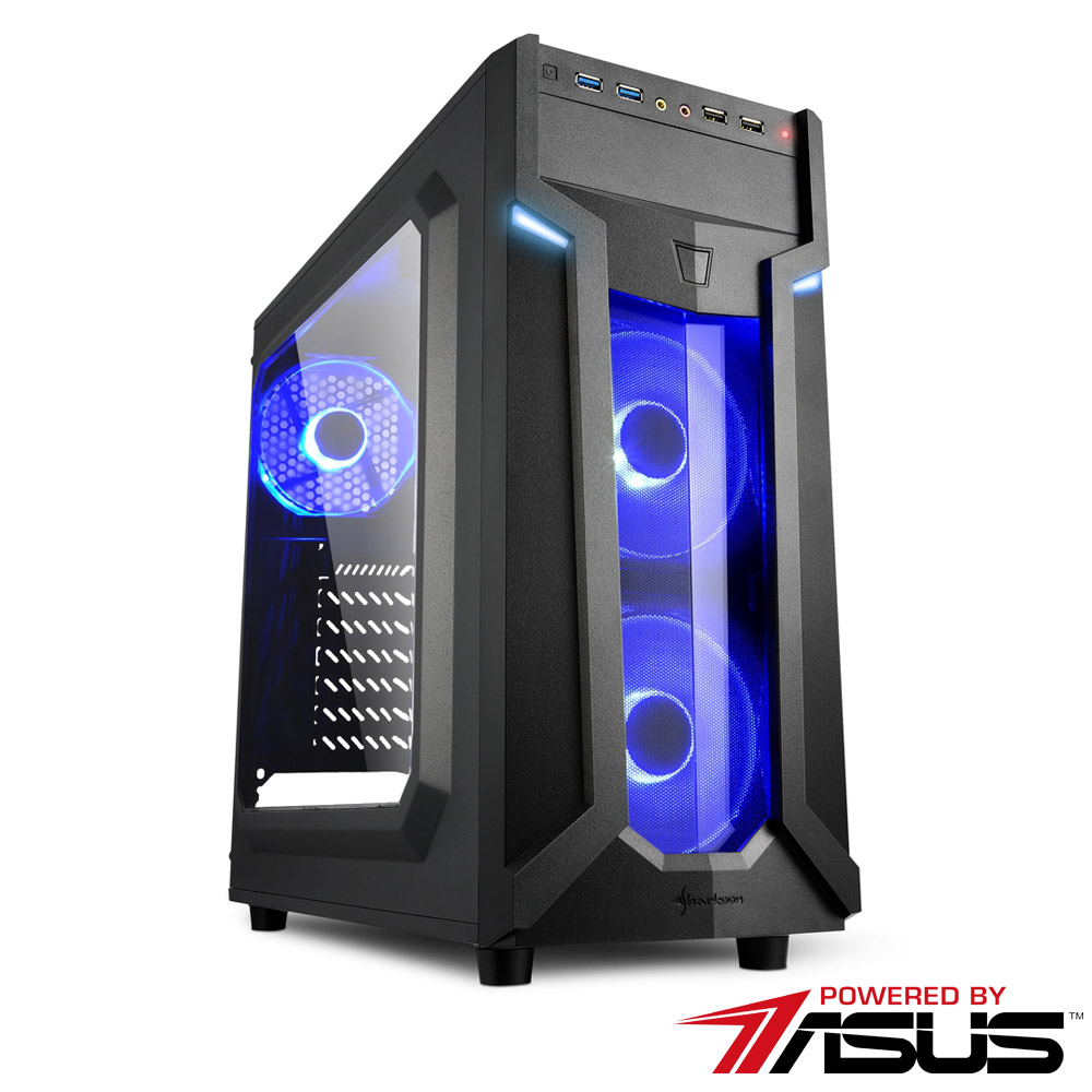 華碩B365平台 [妖火勇士]i5六核RTX2080TI獨顯SSD電玩機