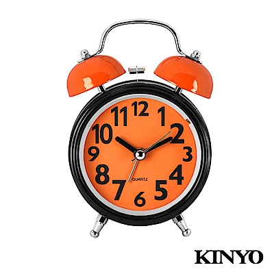 KINYO馬卡龍雙鈴鬧鐘TB702(活力橘)