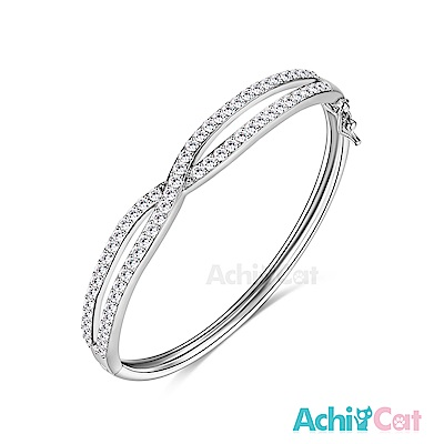 AchiCat 白K手環 甜蜜交織 (銀色)