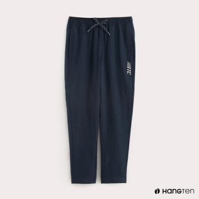 Hang Ten-ThermoContro-童裝純色綁帶機能束口長褲-藍