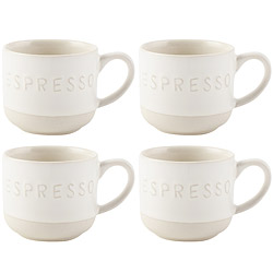 CreativeTops Cafetiere質樸濃縮咖啡杯4入(100ml)