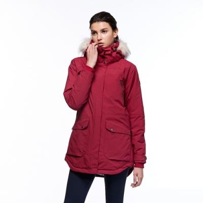 【HAKERS 哈克士】女 滑雪防水鋪棉外套(紅色)