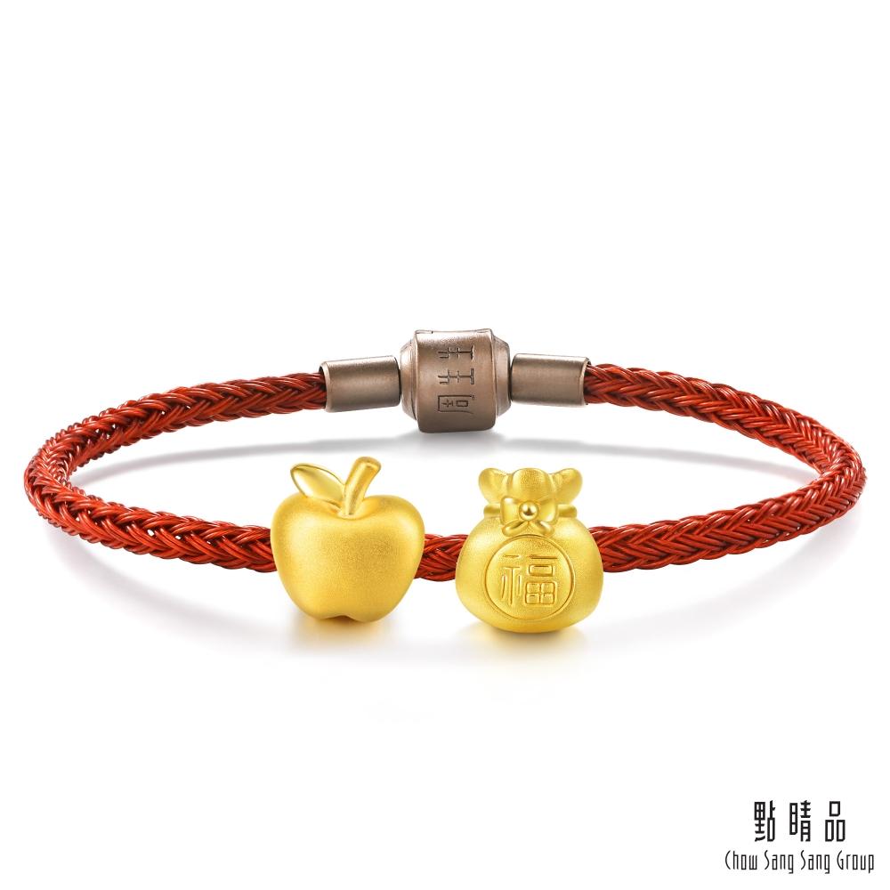 點睛品 999純金 Charme 平安是福 黃金串珠組