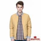 BRAPPERS 男款 質感菱形壓格舖棉飛行外套-芥黃