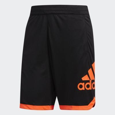ADIDAS 訓練 健身 慢跑 運動 短褲 男款 黑橘 FP9726 BADGE OF SPORT SHORTS