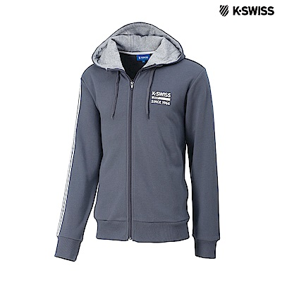 K-SWISS High Front Hoodie JKT連帽外套-女-灰