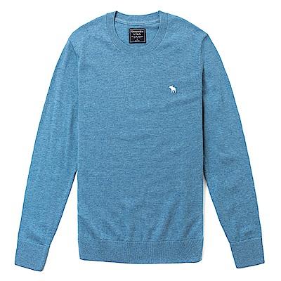 麋鹿 AF A&F 經典麋鹿刺繡標誌毛衣-藍色