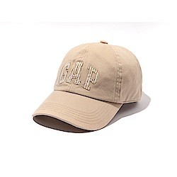 GAP 經典文字刺繡老帽-卡其色